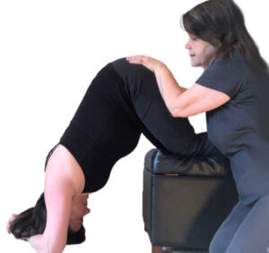 Shake the Apples in Forward-leaning Inversion with hands